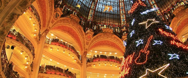 Christmas shopping at Galeries Lafayette and Printemps